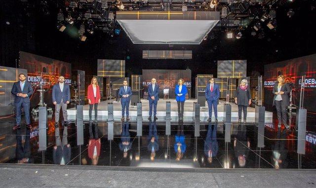 Els candidats del 14F al debat electoral organitzat per Tv3.