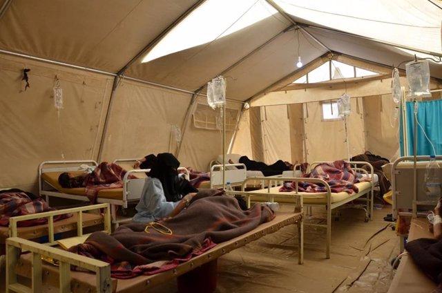 Centro de tratamiento contra el cólera de MSF