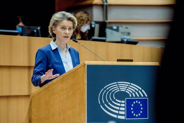 Ursula Von der Leyen al Parlament Europeu