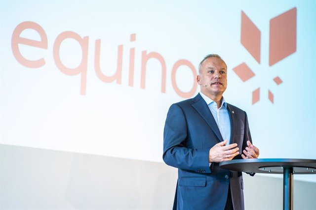 10 August 2020, Norway, Barum: Anders Opedal, CEO of Equinor, speaks during a press conference after being appointed as the new CEO of the state-controlled company. Photo: Hkon Mosvold Larsen/ntb/dpa