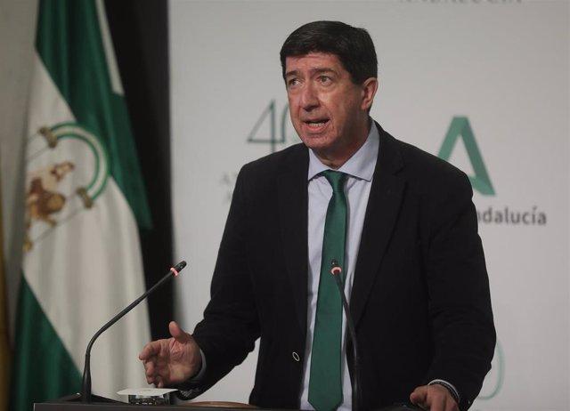 El vicepresidente de la Junta y consejero, Juan Marín, en una imagen de archivo.
