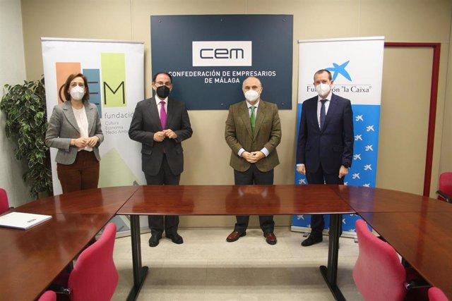 Fundación CEM y CaixaBank lanzan un proyecto para apostar por los autónomos malagueños