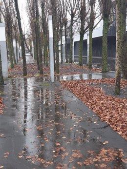 Lluvia en Barakaldo, en Bizkaia