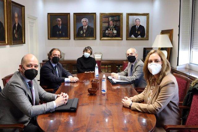 Reunión con responsables del Colegio de Abogados.