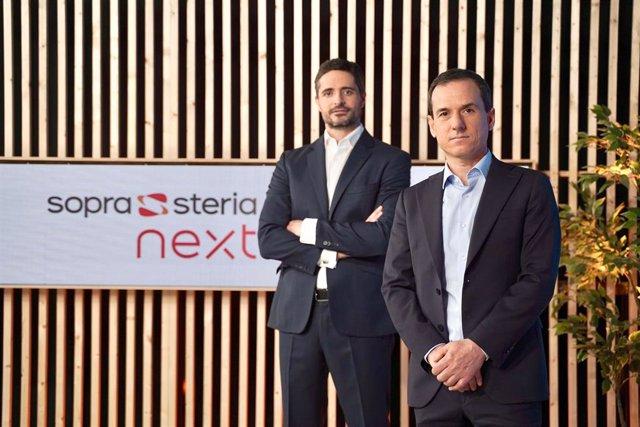 Antonio Peñalver, director general de Sopra Steria, (dcha.) y Carlos Morón, director de Sopra Steria Next (izq.)