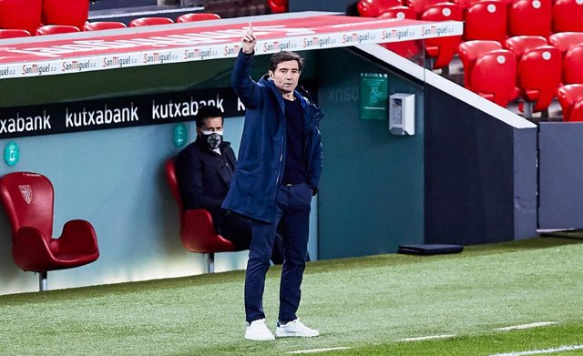 Marcelino Garcia Toral, head coach of Athletic Club,during the Spanish league, La Liga Santander, football match played between Athletic Club and Getafe CF at San Mames stadium on January 25, 2021 in Bilbao, Spain.