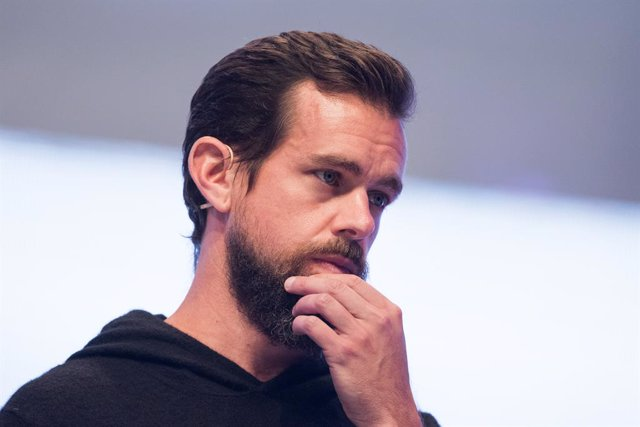 FILED - 13 September 2017, North Rhine-Westphalia, Cologne: Jack Patrick Dorsey, US computer programmer and co-founder and CEO of Twitter, attends the igital trade fair dmexco in Cologne. Twitter will stop all political advertising globally beginning next
