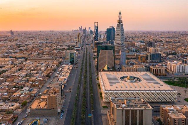 Vista general de la capital de Arabia Saudí, Riad, durante la pandemia de coronavirus