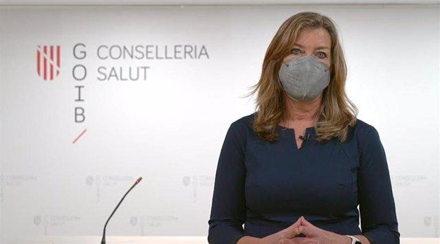 La consellera de Salud y Consumo, Patricia Gómez, en un vídeo dirigido a la población.