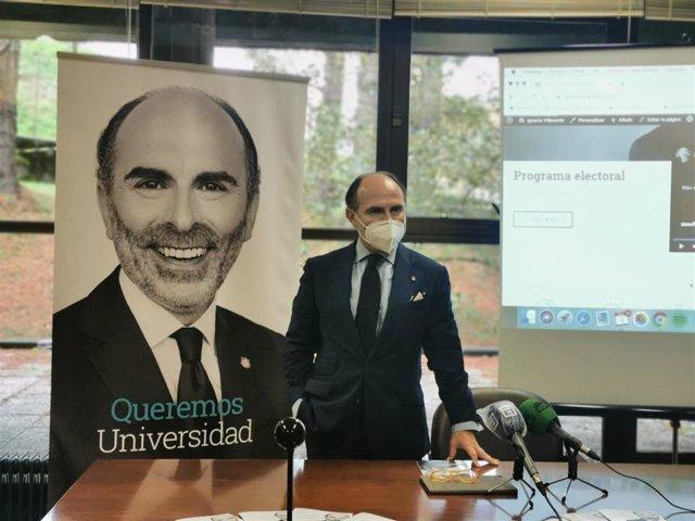 El candidato al Rectorado de la Universidad de Oviedo, Ignacio Villaverde