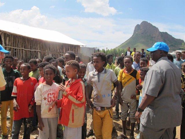 Campo de refugiados en la región de Shire (norte de Etiopía).