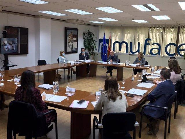 Reunión del consejo de Muface