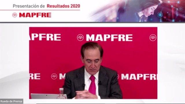 Presidente de Mapfre, Antonio Huertas, en los resultados de la compañía correspondientes al ejercicio 2020.