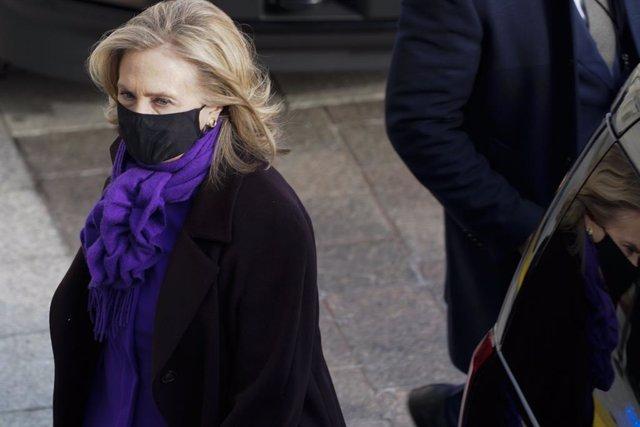 L'ex-secretària d'estat Hillary Clinton en la presa de possessió de Joe Biden
