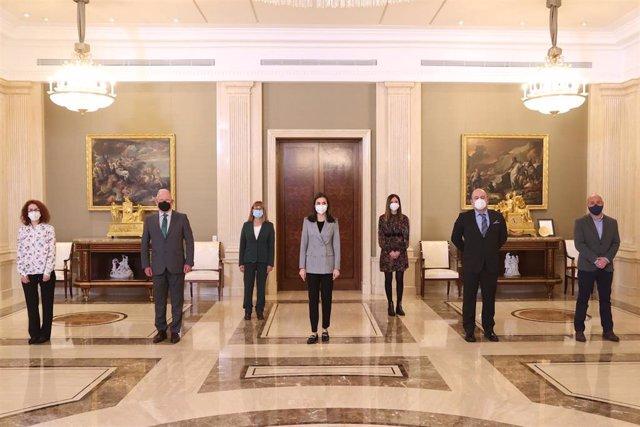 Audiencia de la Reina Letizia con representantes de la Confederación Salud Mental España