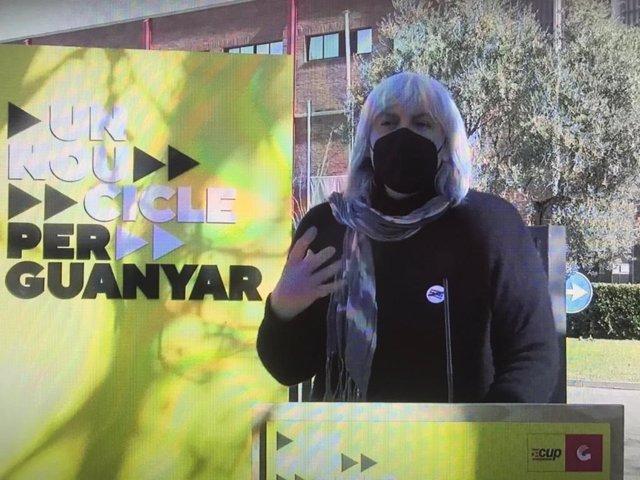 La candidata de la CUP a les eleccions, Dolors Sabater