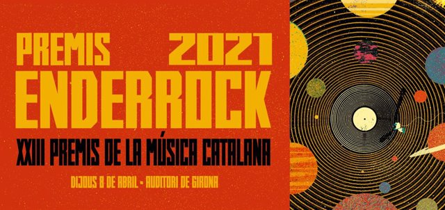 Cartell dels Premis Enderrock 2021