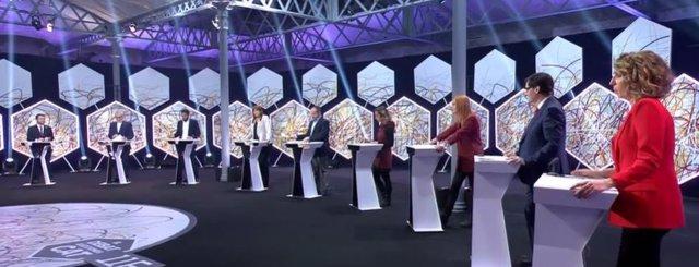 Los candidatos del 14F en el debate de La Sexta
