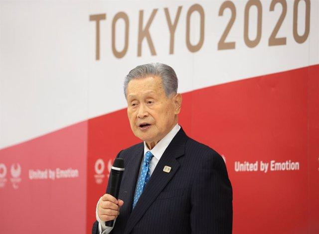 El presidente de los Juegos de Tokio, Yoshiro Mori.