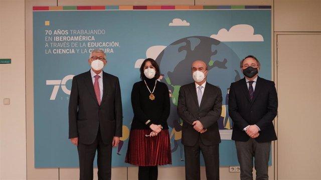 Evento UNIR OEI. Puyol, Capilla, Jabonero y Herrera (Sergio Bielsa)