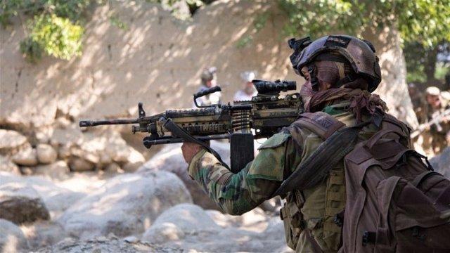 Un militar afgano en una operación en el norte de Afganistán