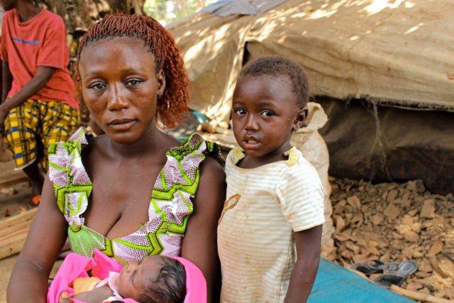 Desplazados forzados en República Centroafricana