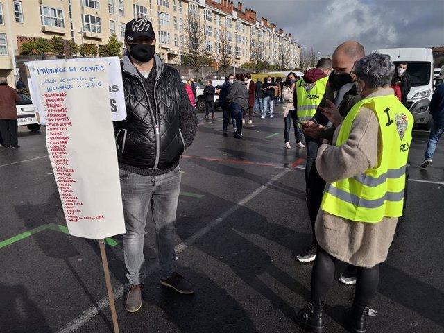 Protesta de feriantes en Santiago