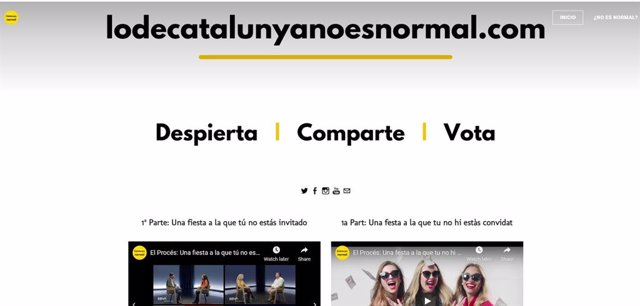 El col·lectiu 'Lo de Catalunya no es normal' demana votar partits constitucionalistes el 14 de febrer.