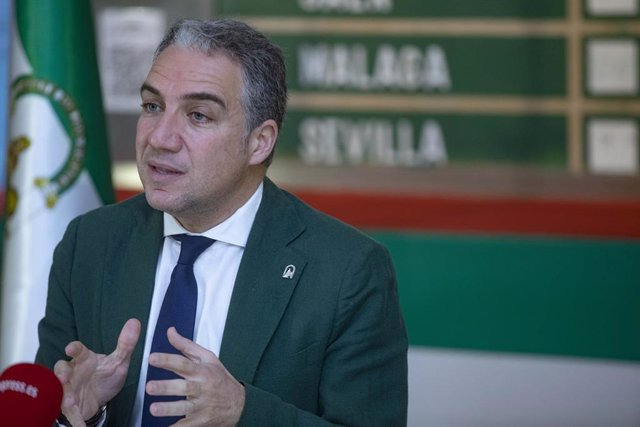 El consejero de Presidencia, Administración Pública e Interior, Elías Bendodo, en una imagen de archivo