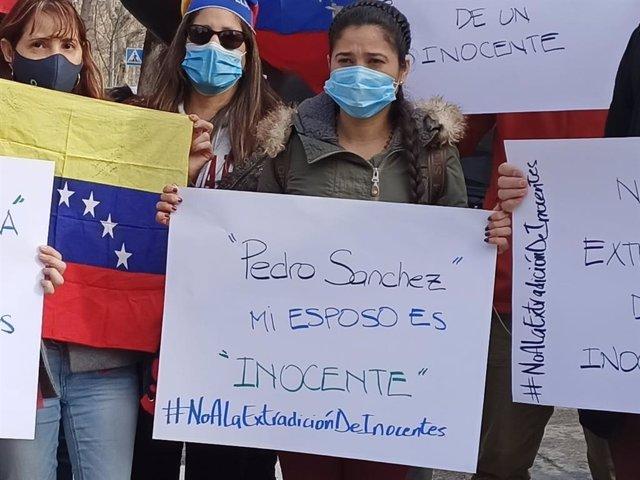 Cismary Marcano, mujer del opositor venezolano Ernesto Quintero, pide al Gobierno de España que no le extradite a Venezuela