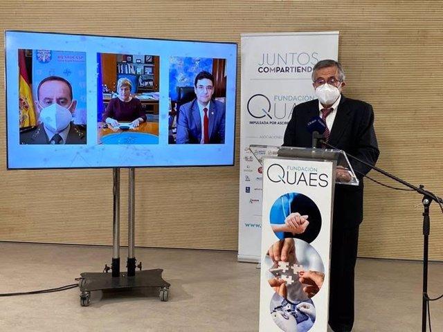 El presidente de la Fundación QUAES, Javier Benítez