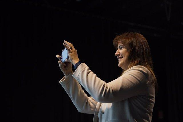La portaveu de Junts al Congrés i candidata a la Generalitat, Laura Borràs, en un acte de campanya