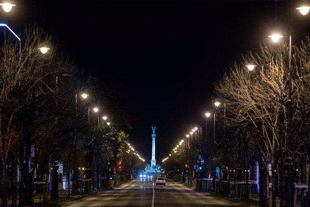 Vista de una calle en Budapest