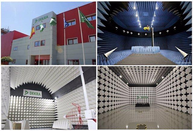 Cámara semianecoica de DEKRA en Málaga para EMC