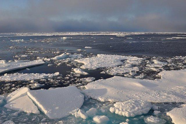 Agua cálida reduce al 50% el crecimiento de hielo invernal en el Ártico