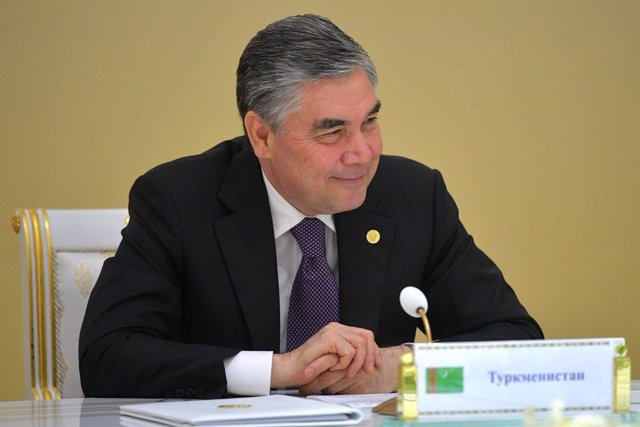 HANDOUT - 11 October 2019, Turkmenistan, Ashgabat: President of Turkmenistan Gurbanguly Berdimuhamedow attends the Summit of the leaders of the Commonwealth of Independent States (CIS). Photo: -/Kremlin/dpa - ATTENTION: editorial use only and only if the