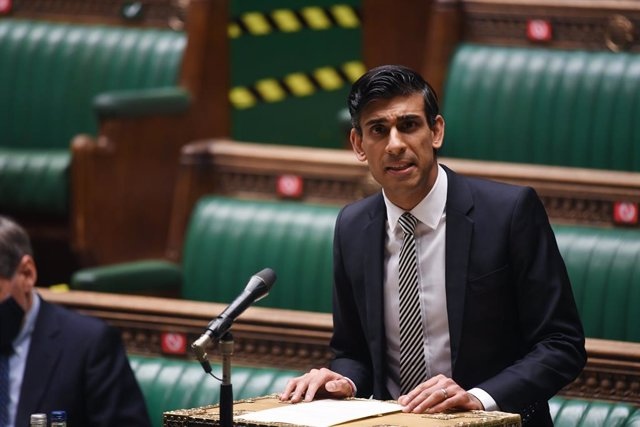 HANDOUT - 11 January 2021, England, London: Britain's Chancellor of the Exchequer Rishi Sunak gives a statement on the economy in the House of Commons. Photo: Uk Parliament/Jessica Taylor/PA Media/dpa - ATTENTION: editorial use only and only if the credit