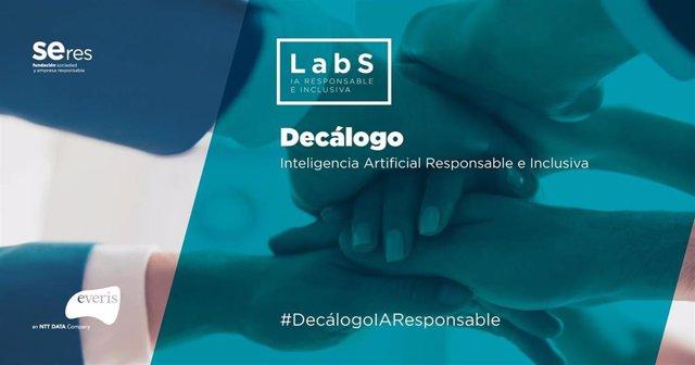 Portada del 'Decálogo sobre Inteligencia Artificial Responsable e Inclusiva', fruto de la colaboración de Fundación Seres y everis
