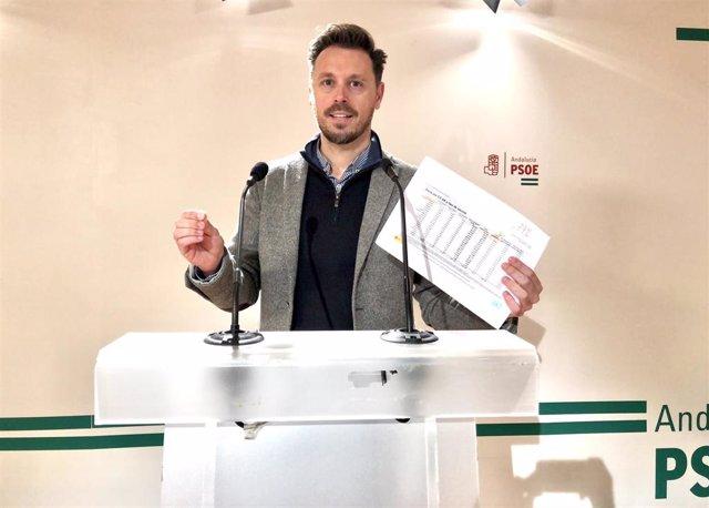 El portavoz del Grupo Socialista en la Comisión sobre la Discapacidad en Andalucía y diputado por Granada, Juan José Martín Arcos.