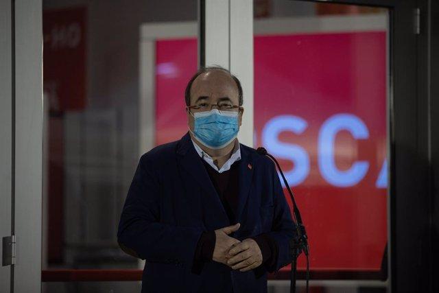 Miquel Iceta arriba a la seu del PSC