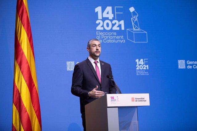 El conseller d'Acció Exterior, Relacions Institucionals i Transparència de la Generalitat, Bernat Solé