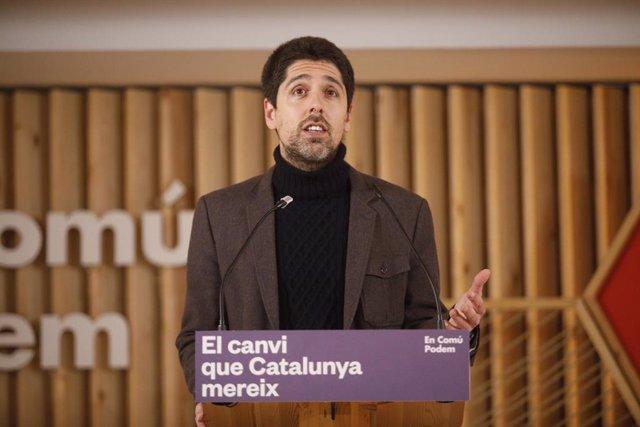 El director de campanya dels comuns, David Cid.