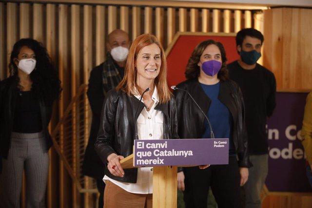 La candidata dels comuns a la Presidència de la Generalitat, Jéssica Albiach, compareix per valorar els resultats del 14F.