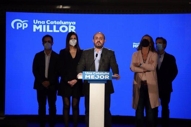 El candidat del PP a les eleccions catalanes del 14-F, Alejandro Fernández