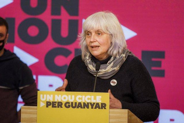 La candidata de la CUP a les Eleccions, Dolors Sabater.