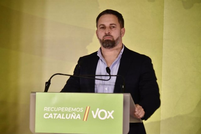 El líder de Vox, Santiago Abascale, aquest diumenge a Barcelona