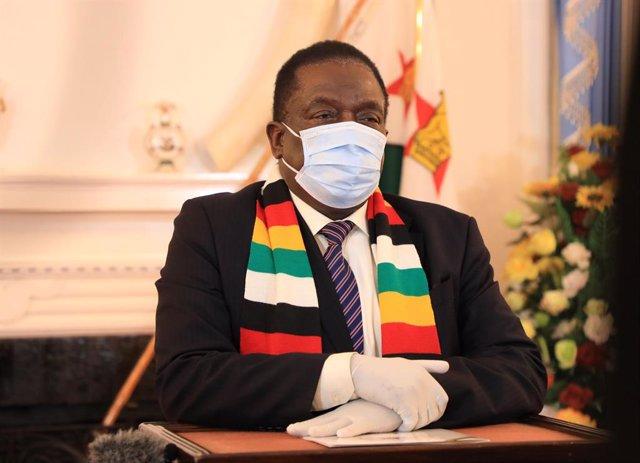 El presidente de Zimbabue, Emmerson Mnangagwa