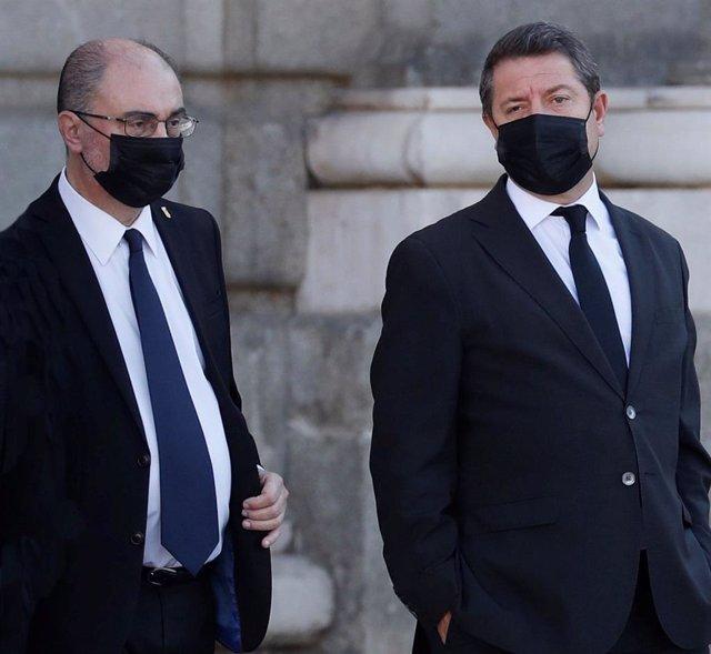 El presidente del Gobierno de Aragón, Javier Lambán, y el presidente de Castilla-La Mancha, Emiliano García-Page, en una foto de archivo