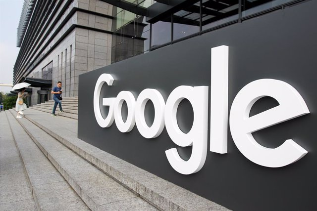 10 September 2019, China, Shanghai: A large sign with the Google logo is placed outside the building for Google Developers Day. Google will pay nearly a billion euros (approximately1.1 billion dollars) fines and taxes to end a years-long tax investigation