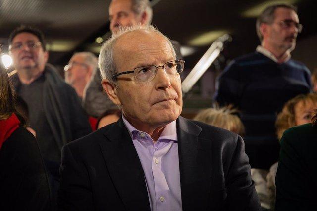 El expresidente de la Generalitat catalana José Montilla acude a la presentación de Jaume Collboni como candidato del PSC a la Alcaldía de Barcelona.
